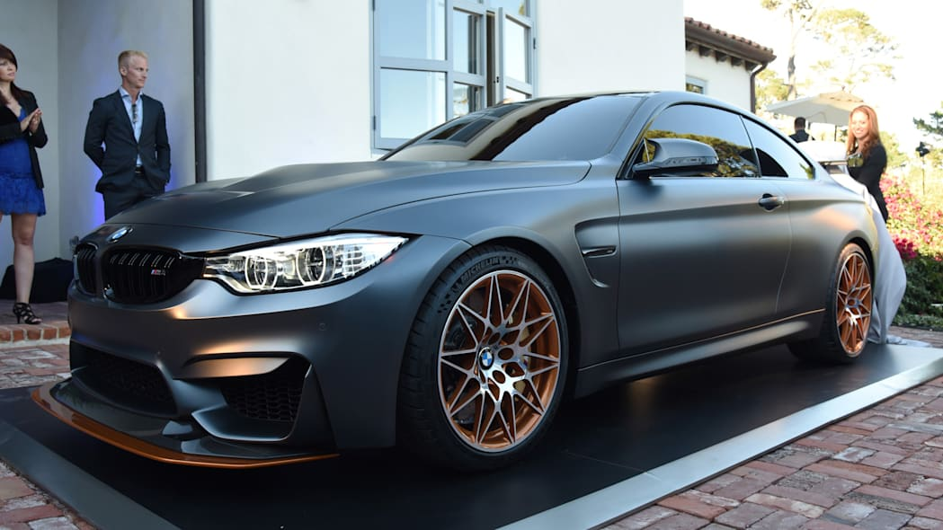bmw concept m4 gts unveiling orange accents