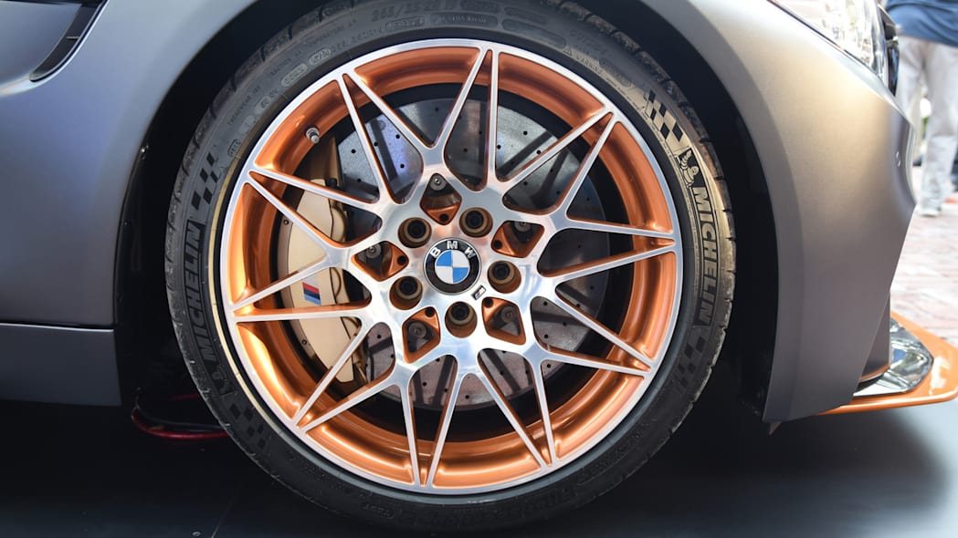 wheel brakes carbon ceramic orange accents bmw