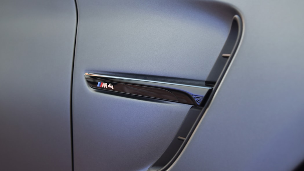 side gill bmw m4 badge logo concept gts