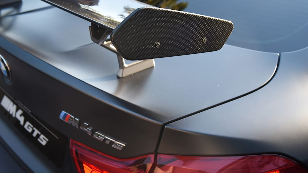 spoiler carbon fiber gts m4 badge bmw
