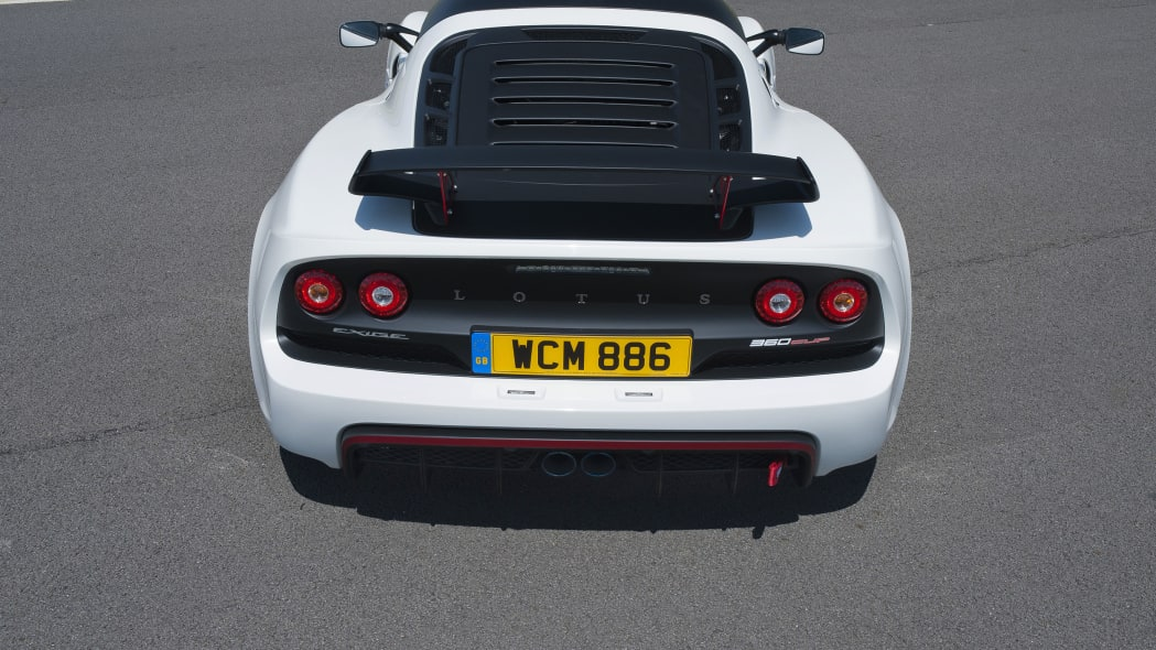 white lotus exige 360 cup louvered rear