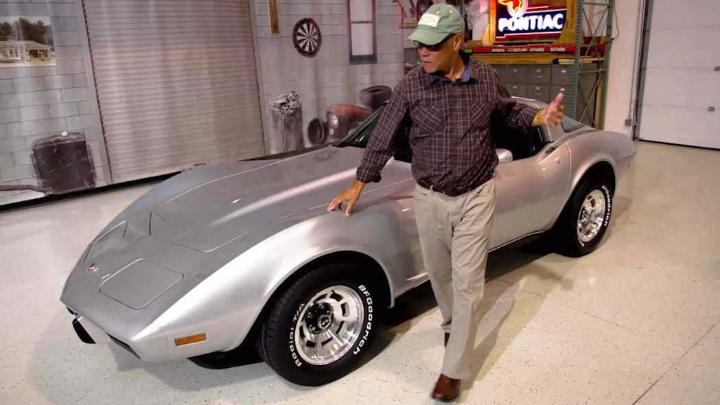 george talley with restored 1979 chevy corvette