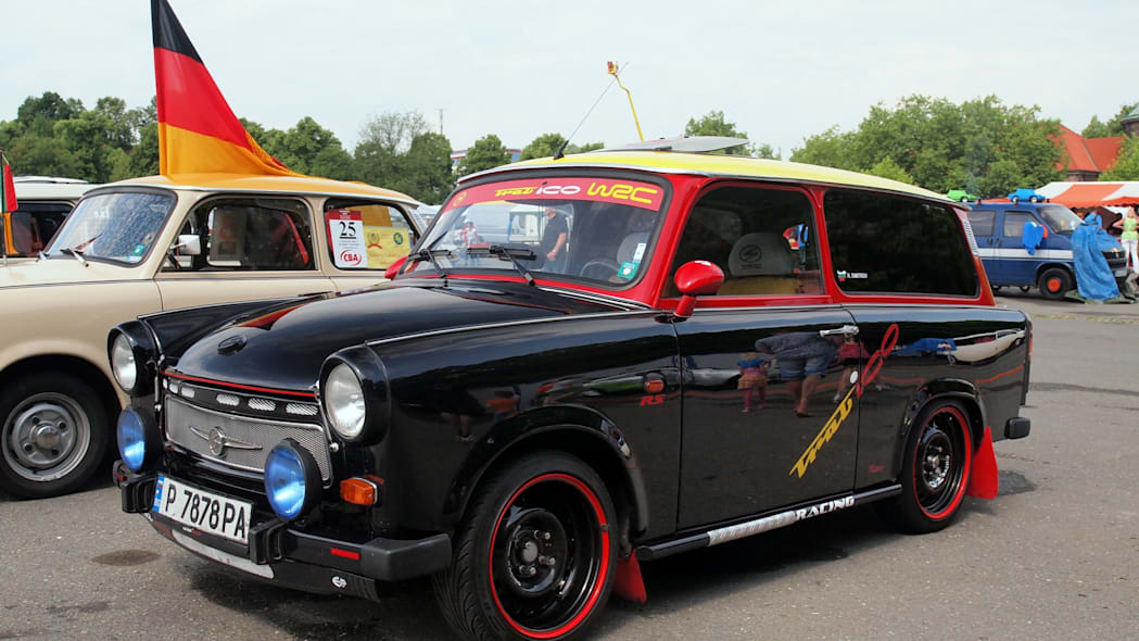 A modified Trabi at the 2015 Trabant Fest in Zwickau, Germany.