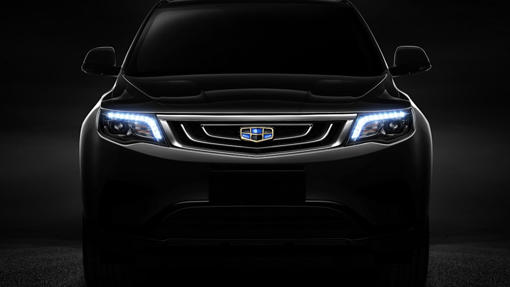 Geely new SUV teaser front