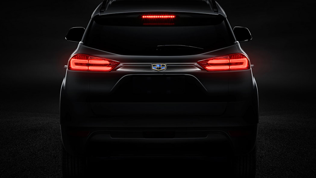 Geely new SUV teaser rear tail