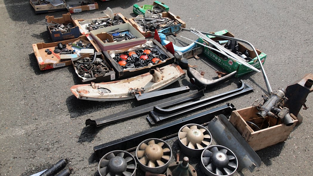 Trabi replacement parts at 2015 Trabant Fest in Zwickau, Germany