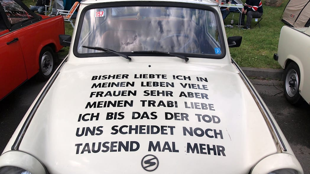 A Trabi at the 2015 Trabant Fest in Zwickau, Germany.