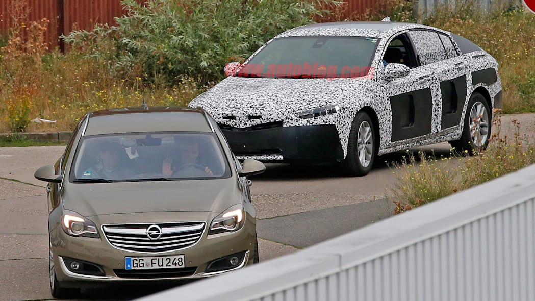opel insignia camo production model spied
