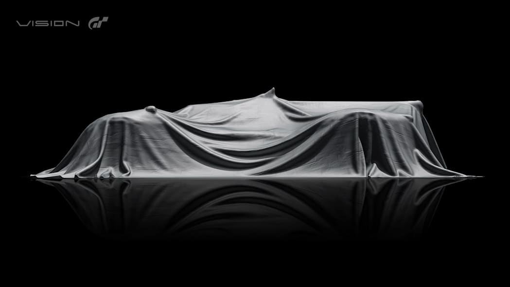 Hyundai N 2025 Vision Gran Turismo concept teaser, side, covered.