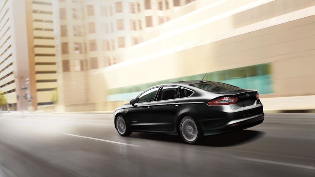2016 Ford Fusion Energi PHEV on the road.