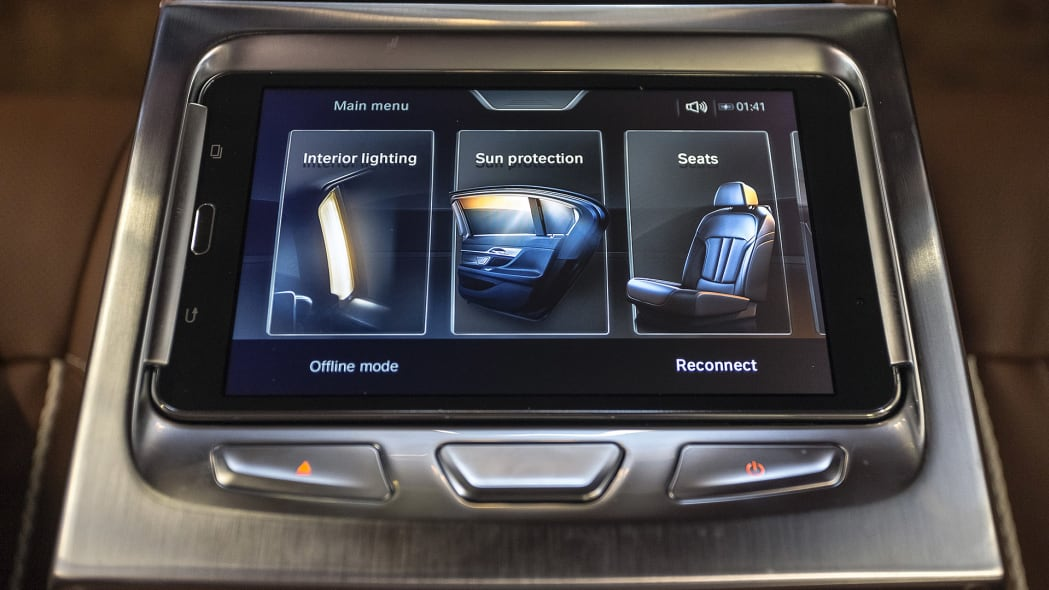 2016 BMW 7 Series rear seat infotainment system