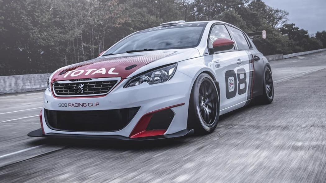 peugeot 308 racing cup front three quarters