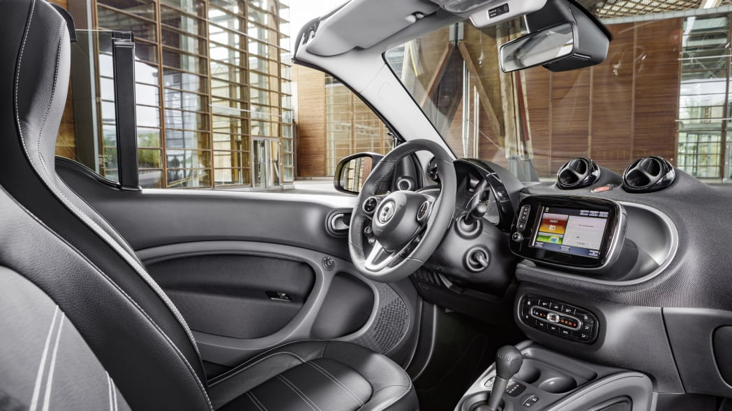 The 2016 Smart Fortwo Cabriolet, interior.
