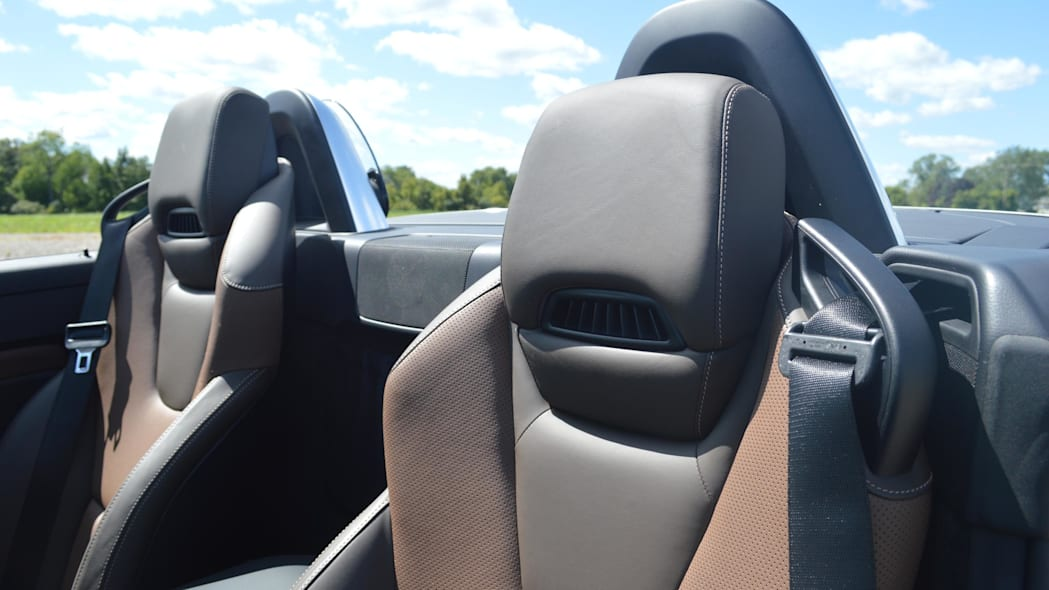 2015 mercedes-benz slk250 seat detail brown black