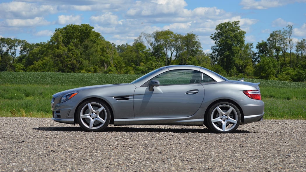 2015 mercedes-benz slk250 silver profile top up