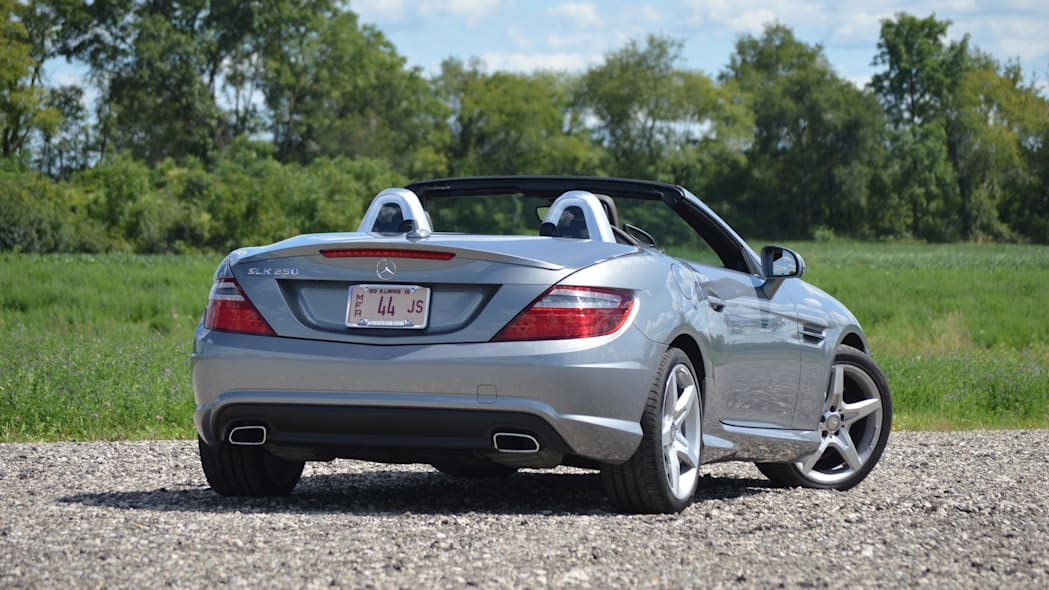 2015 mercedes-benz slk250 silver rear green field