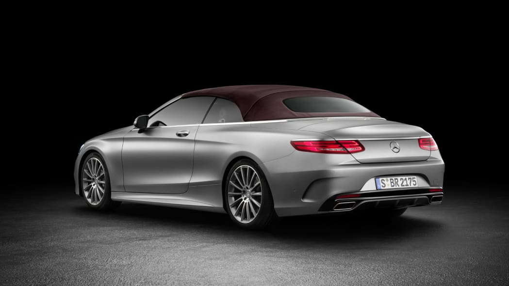 mercedes cabriolet convertible top up roof up rear s-class