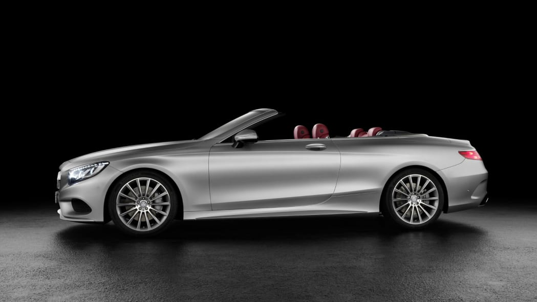 profile s-class s550 mercedes cabriolet convertible