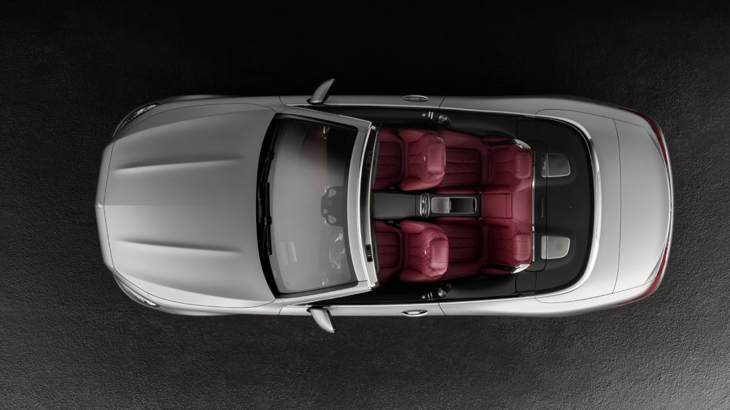 cabriolet s-class mercedes top down over
