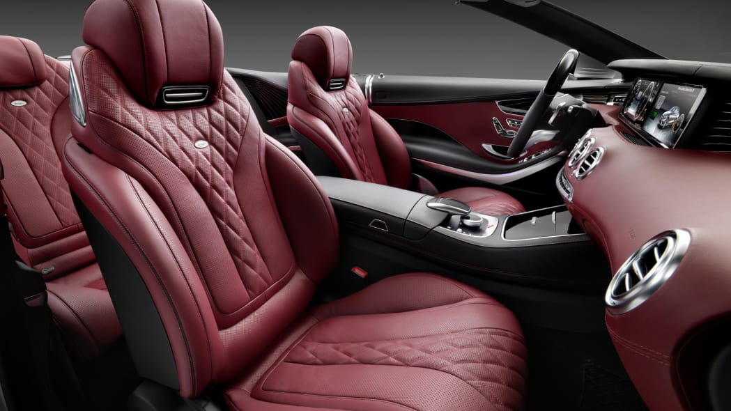 red leather seats s-class mercedes cabriolet
