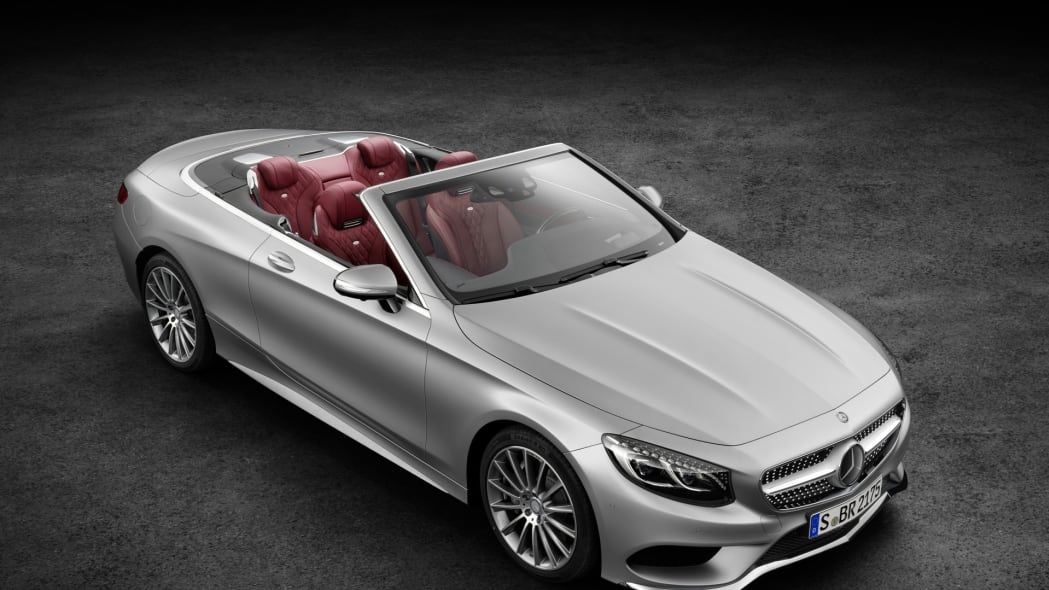 s-class cabriolet mercedes convertible top down