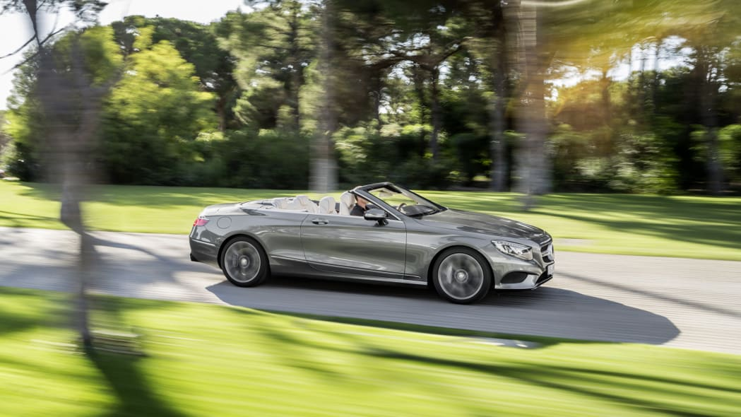 action s-class top down roofless mercedes