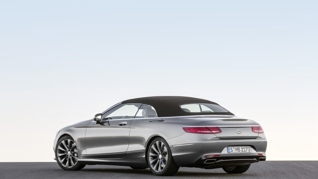 roof up rear s-class droptop mercedes cabriolet