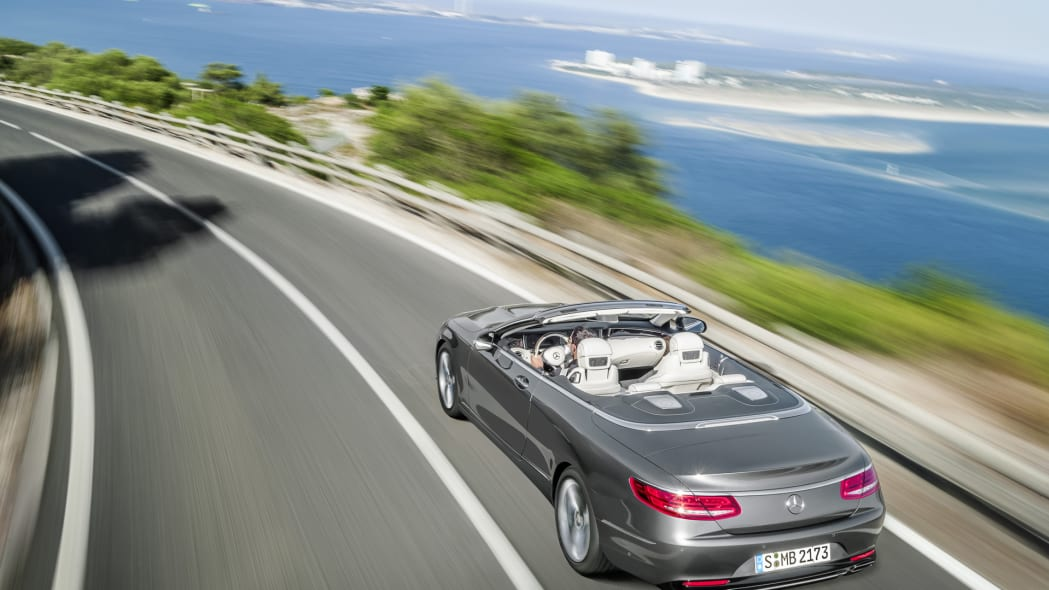 mercedes coast action s-class cabriolet convertible
