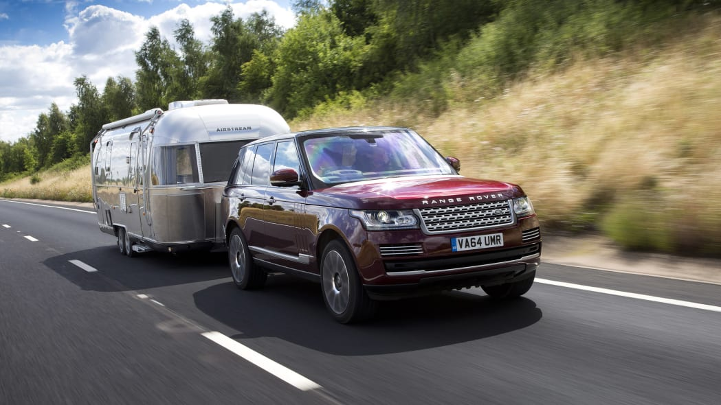 Land Rover Range Rover Airstream trailer