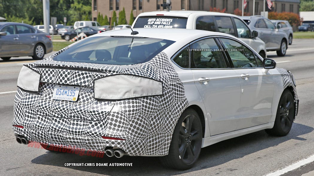 Ford Fusion ST spied rear 3/4