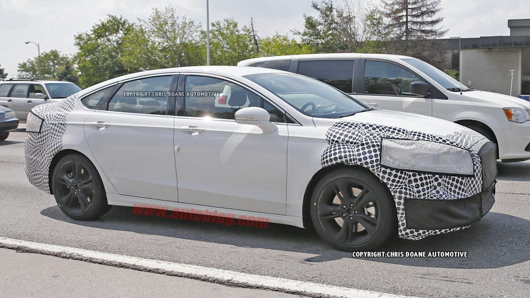 2016 Ford Fusion ST spied side front 3/4