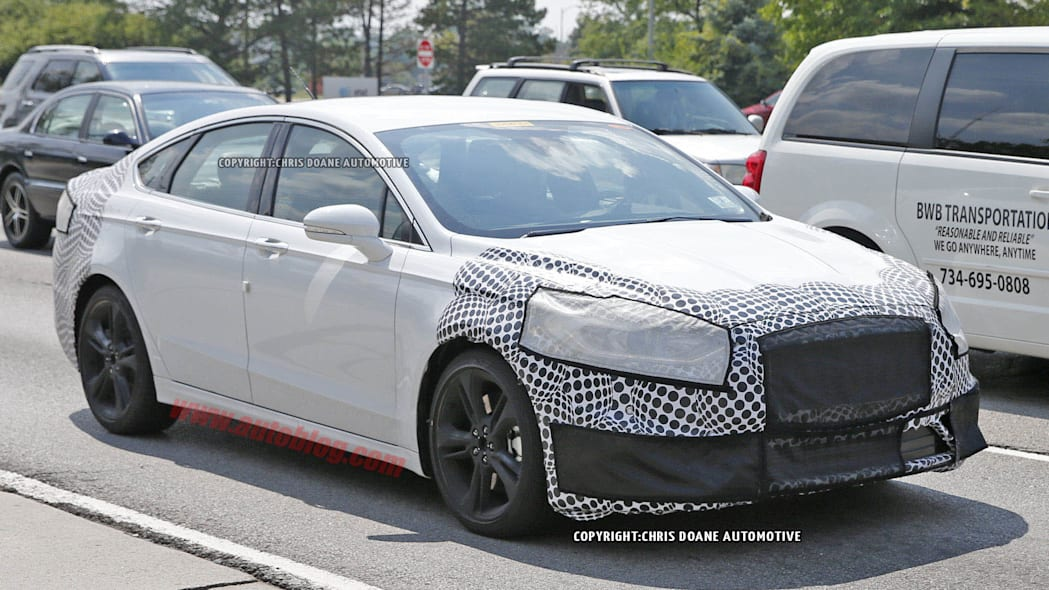 2016 Ford Fusion ST spied front 3/4