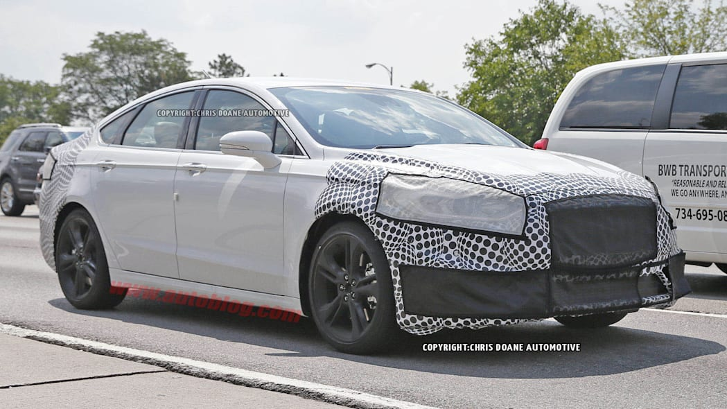 2017 Ford Fusion ST spied front 3/4