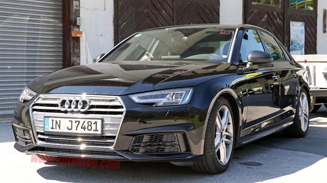 2017 Audi S4 spied front 3/4 parked