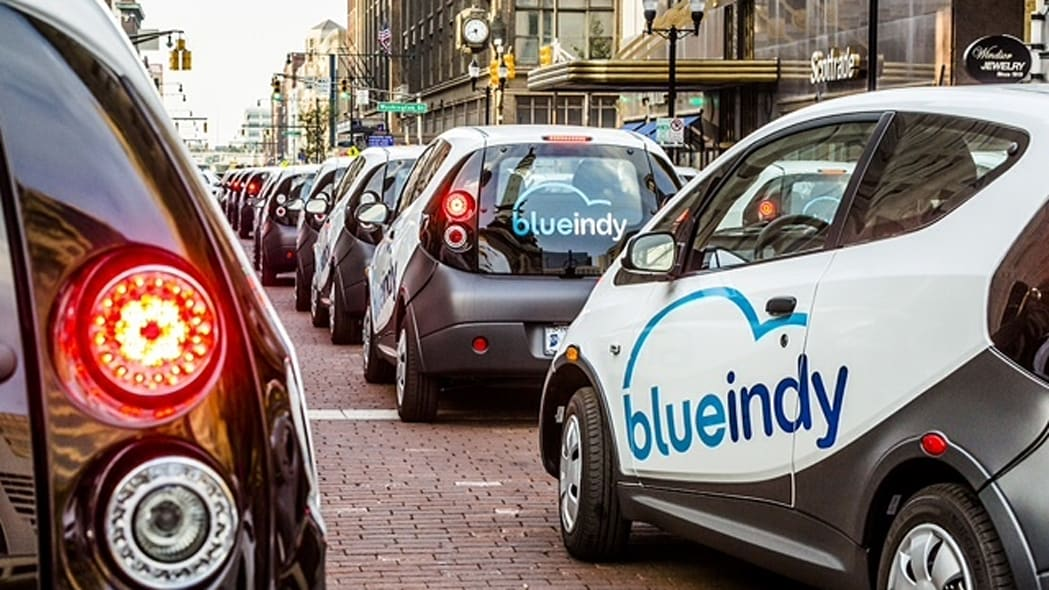 BlueIndy Carsharing EVs