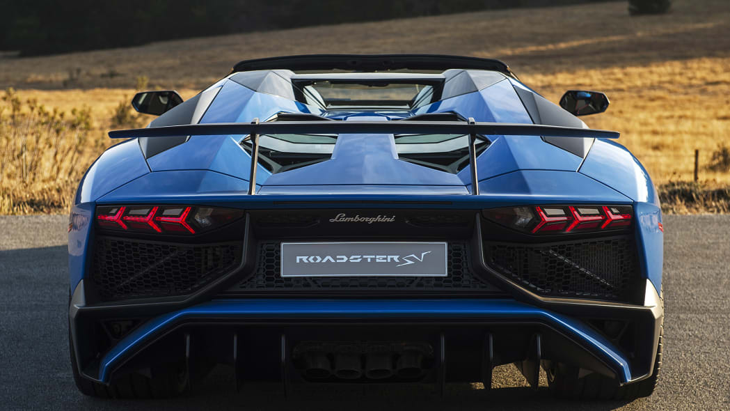 2016 Lamborghini Aventador LP750-4 SV Roadster rear view