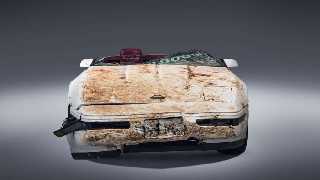 chevy corvette one million destroyed front