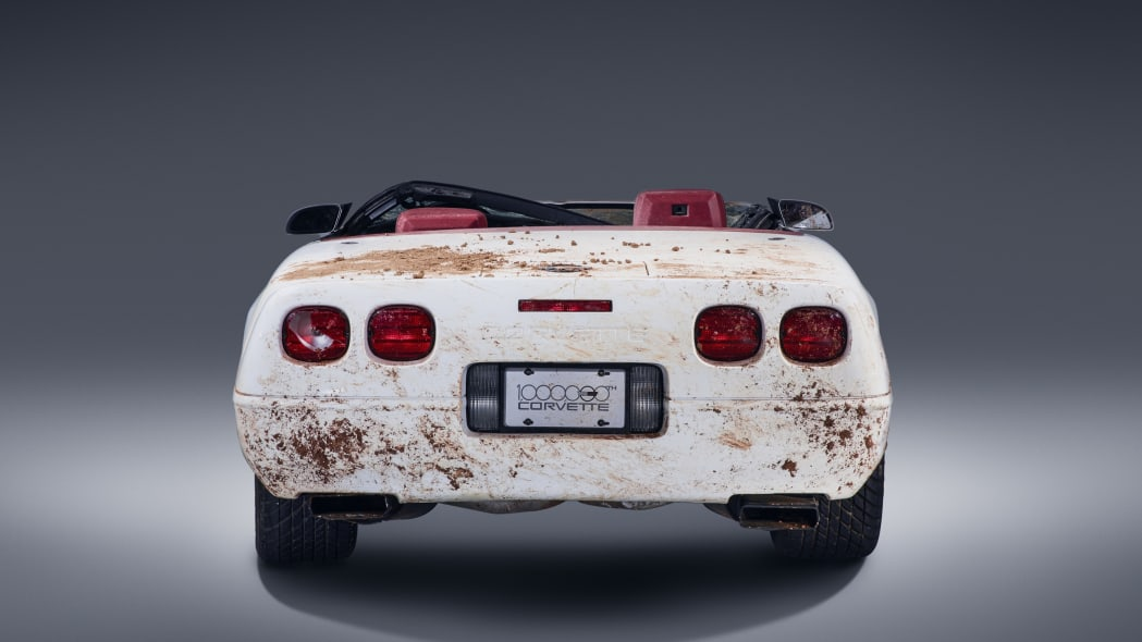 chevy corvette one million destroyed rear