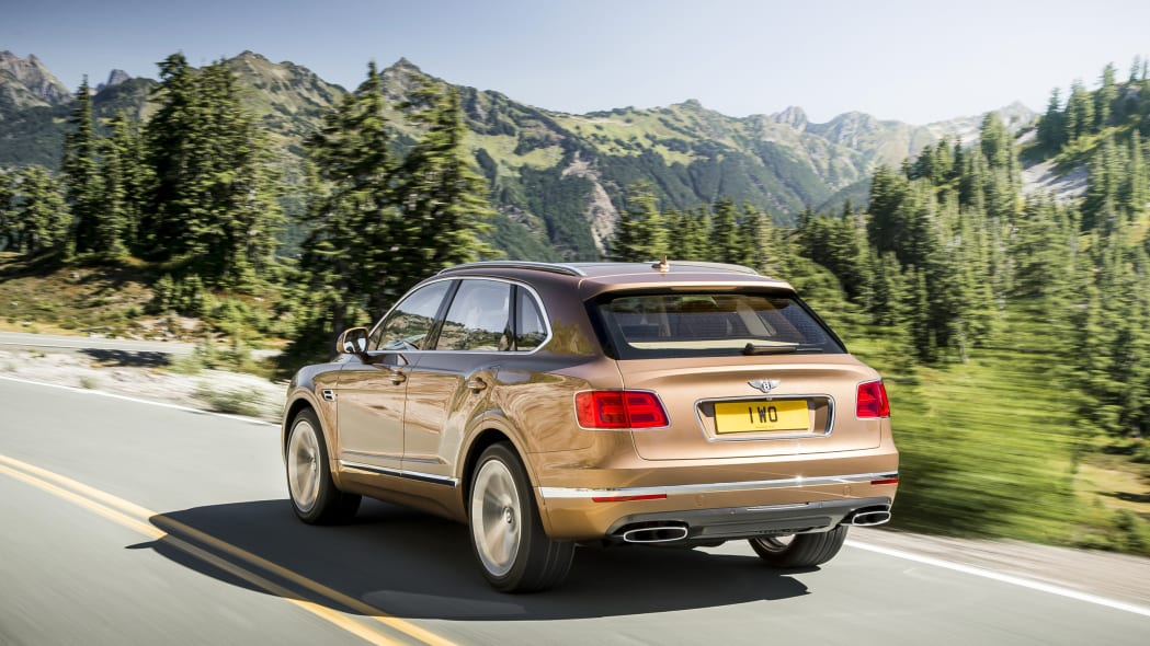 Bentley Bentayga road rear 3/4