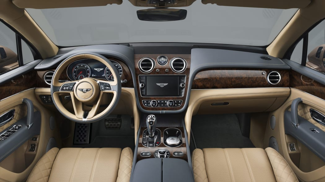 Bentley Bentayga interior dashboard dark