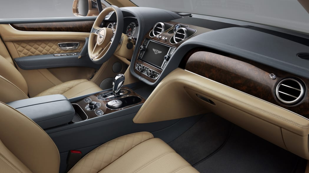 Bentley Bentayga interior dark