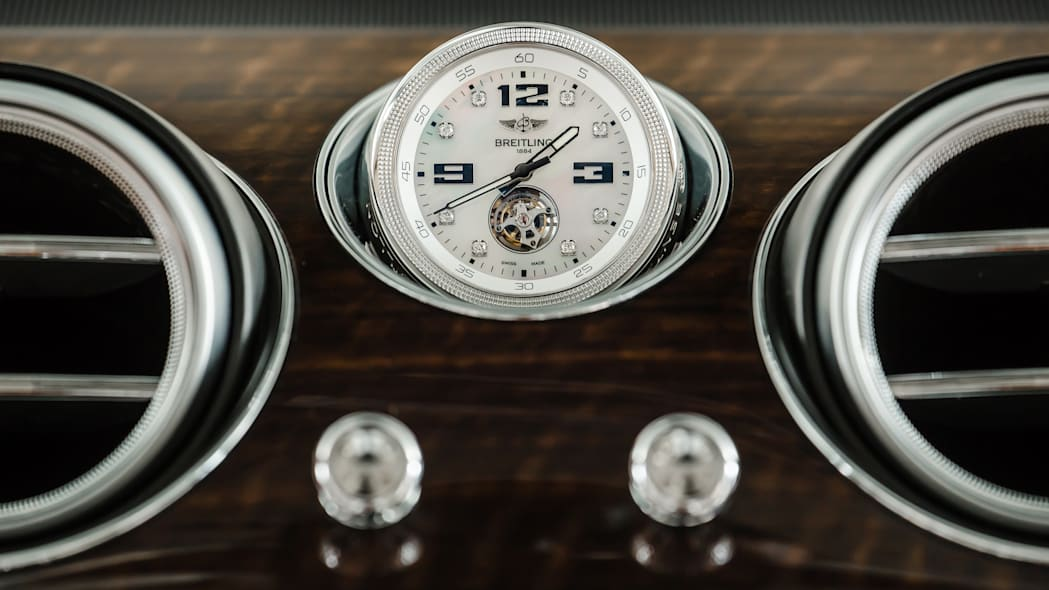 Bentley Bentayga Breitling watch clock