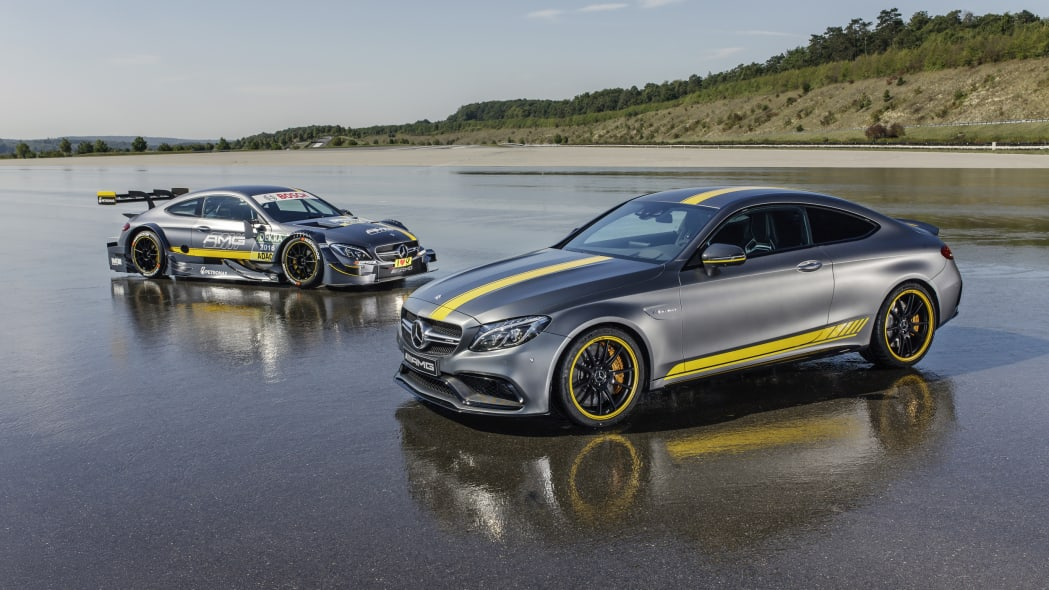 Mercedes-AMG C63 Coupe Edition 1 and DTM front