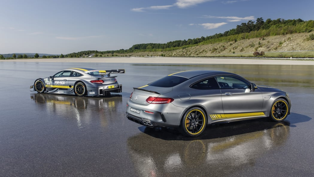 Mercedes-AMG C63 Coupe Edition 1 and DTM rear