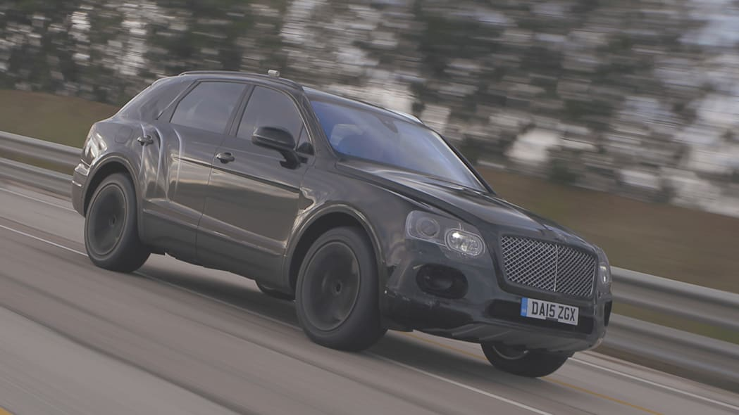 Bentley Bentayga high-speed testing