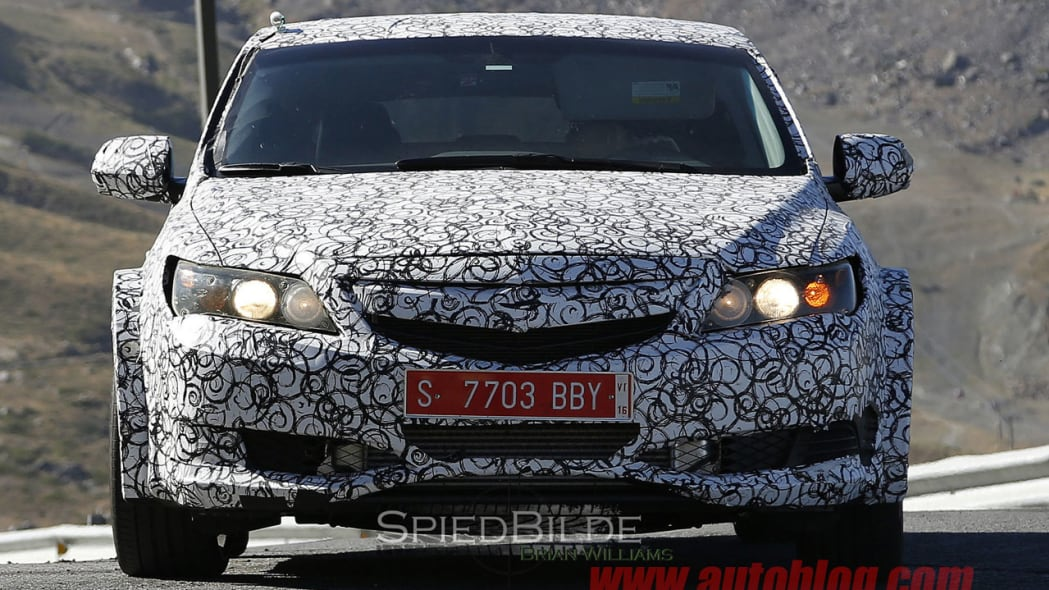 honda civic type r front spy shot