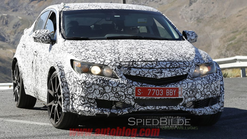 honda civic type r grille spy shot