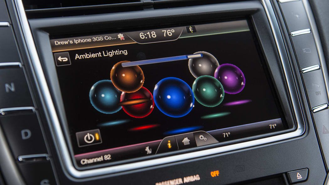 2016 Lincoln MKX ambient lighting controls
