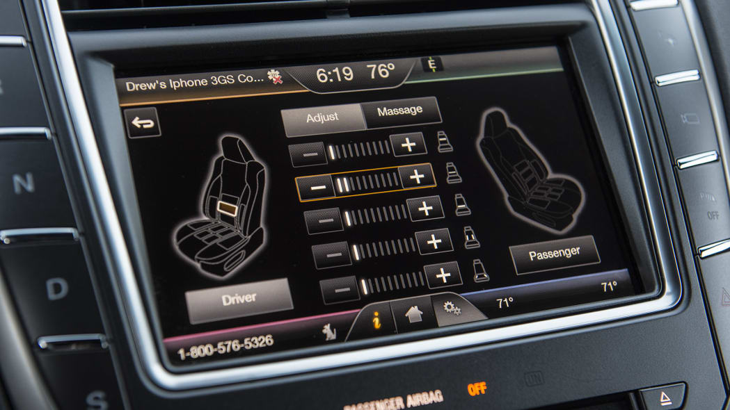 2016 Lincoln MKX seat massager controls