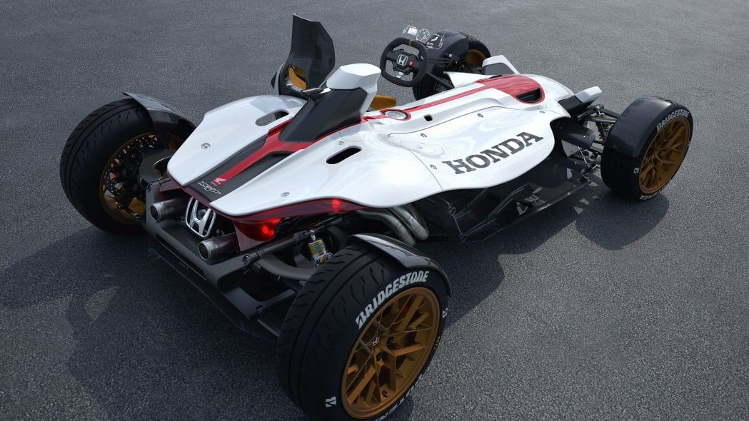 honda project 2 and 4 concept rear three quarters